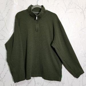 Eddie Bauer Green Partial Zip Sweatshirt